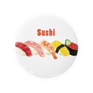 sushi缶バッジ Badges