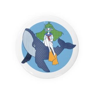 クジラとおんなのこ Badges