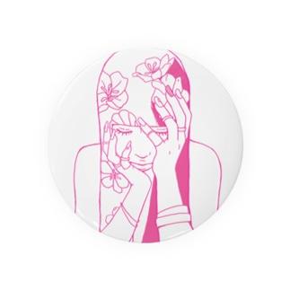 ピンク女の子ちゃん Badges