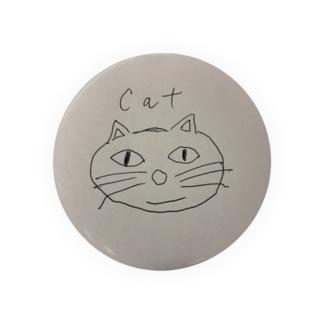 猫、手書きイラスト、グッズ Badges