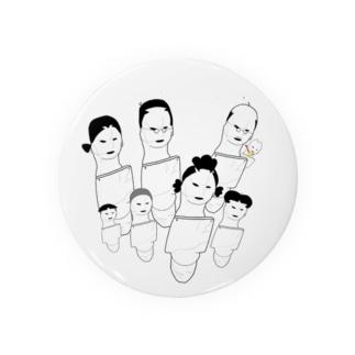 盾持人埴輪の家族 Badges