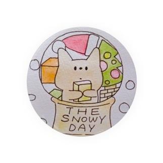 雪の日のねこ Badges