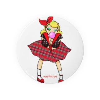 ロカビリーガールⅡ【red】 Badges