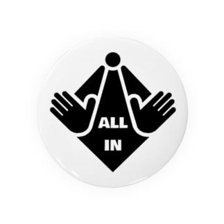 ALL IN(黒デザイン) Badges