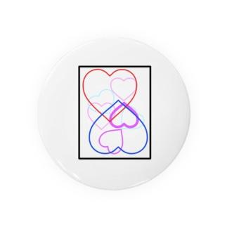 恋人をイメージしたデザイン Badges