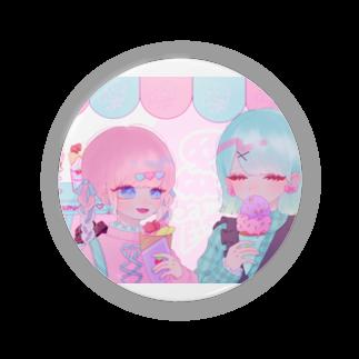 らむ。(ね)の甘味処のアイスクリームとクレープ食べに行こ缶バッジ Badges