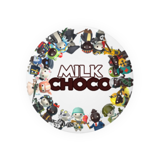 PACkageオフィシャルのミルクチョコオールキャラクター Badges