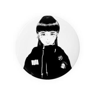 punk girl Badges