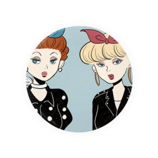 50s rocabilly girls Badges