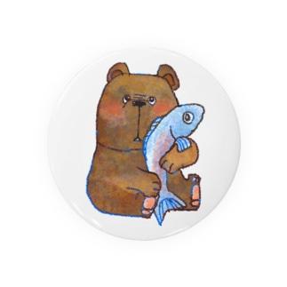 サケとクマのトモ Badges