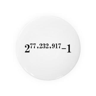 素数をあしらったアイテム Badges