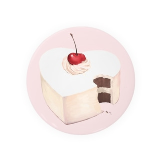 ハートのケーキ Badges