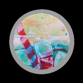 らむ。(ね)の甘味処のクリームソーダ Badges