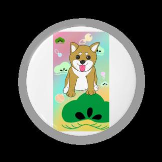Lily bird(о´∀`о)のにこにこ柴犬 和柄② Badges