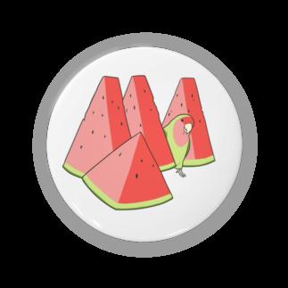 インコグッズ屋のスイカとコザクラインコ Badges