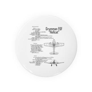 ヘルキャットF6F:戦闘機:アメリカ軍:米軍:WW2:第二次世界大戦:太平洋戦争 Badges