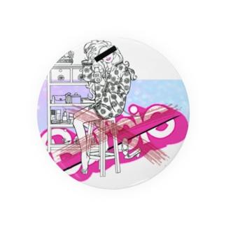 ピンクゆめかわいいパロディ Badges