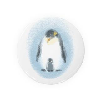 いきものイラスト(皇帝ペンギンの親子) Badges