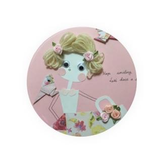 もじゃもじゃ髪の女の子♡8 Badges