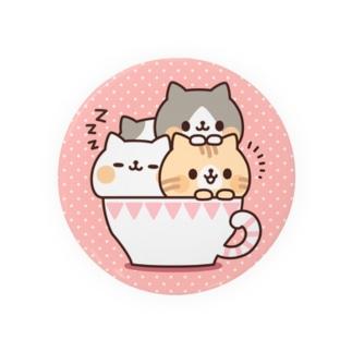 ネコがいっぱいティーカップ Badges