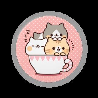 DECORのネコがいっぱいティーカップ Badges