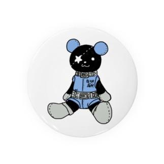 黒クマ君お座り Badges