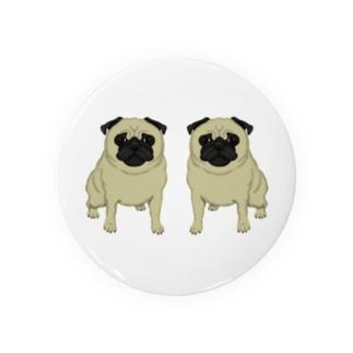 双子のパグ Badges