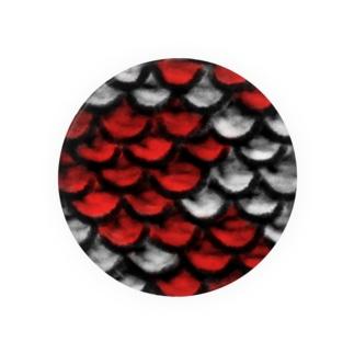 鱗(紅白) Badges