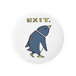 EXIT ペンギン Tin Badge