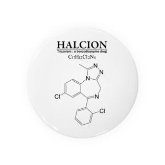 ハルシオン(トリアゾラムを使用した睡眠導入剤[睡眠薬]):化学:化学構造・分子式 Badges
