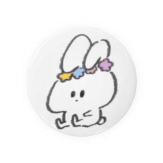 うさたそ花冠の小物 Badges