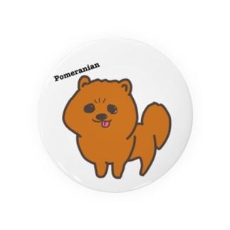 狸カットのポメラニアン Badges