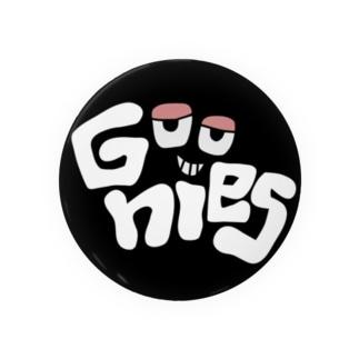 Goonies 丸黒75mm Badges