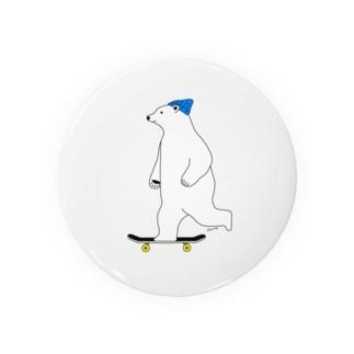 スケーターしろくま Badges