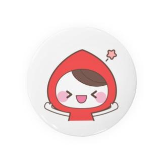 虹色フードちゃん缶バッジ★赤色フードちゃん Badges