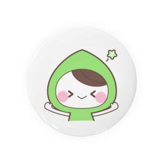 虹色フードちゃん缶バッジ★緑フードちゃん Badges