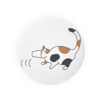 紙コップから頭が抜けず後ずさりする猫 Badges