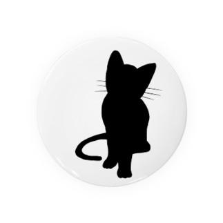 シンプルに黒猫 Badges