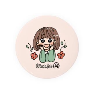 少女A(ローマ字入り) Badges