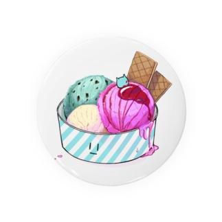 うわわさんinアイスクリーム Badges
