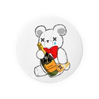 SAKEくま champagne Badges