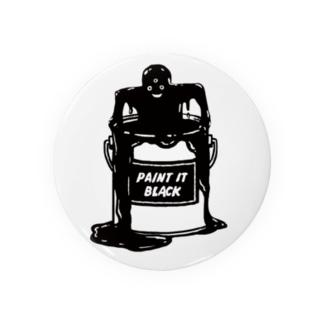 Paint it Black 缶バッヂ Badges