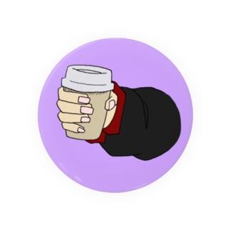 コーヒーカップを持つ手 Badges
