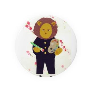 ライオンと桃の花 Badges