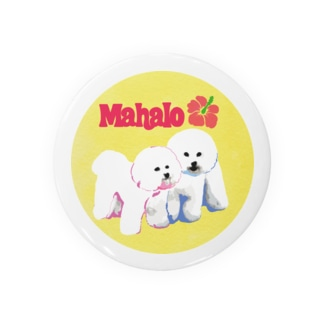 mahalo's bichon y-01 缶バッジ