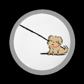 こぐま犬てんすけグッズショップのこぐま犬てんすけ拒否ポーズ Badges