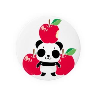 ズレてもぱんだズレぱんだちゃんのリンゴ食べたの誰?Bタイプ Badges