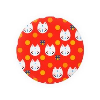 狐のお面(朱) Badges