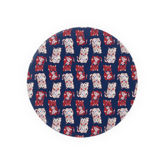 akaneyabushitaの【日本レトロ#01】招き猫(パターン) Badges