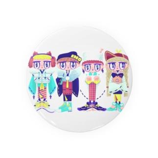 イノシシ四人衆 Badges